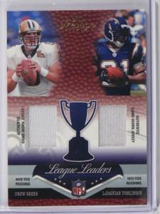 2007 Prestige Drew Brees Tomlinson Peyton Manning & Johnson jersey #D43/50 *3806