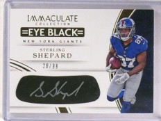 2016 Immaculate Eye Black Sterling Shepard autograph auto rc #D28/99 *69862