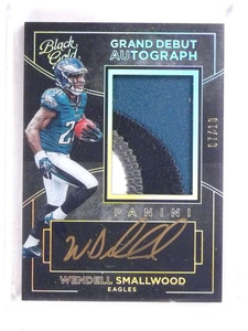 2016 Panini Black Gold Debut Wendell Smallwood autograph patch rc /10 *69919