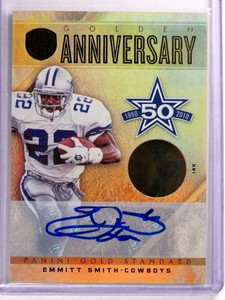 2011 Gold Standard Golden Anniversary 14K Emmitt Smith autograph #D09/10 *69966