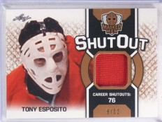 2017 Leaf Masked Men Shut Out Tony Esposito jersey #D9/12 #SO-TE1 *69896