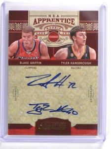09-10 Timeless Treasures Apprentice Blake Griffin & Hansbrough auto #d4/25 *4462