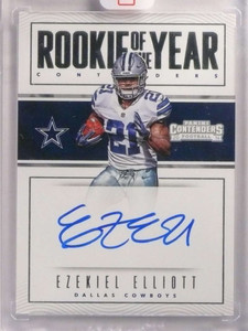 2016 Panini Contenders Rookie Of The Year Ezekiel Elliott autograph auto *69988