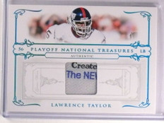 2007 National Treasures Lawrence Taylor Laundry Tag Patch #D1/3 #61 *69993
