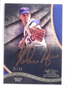 2017 Topps Tier One Copper Nolan Ryan autograph auto #D24/25 METS *69994