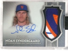 2017 Topps Dynasty Noah Syndergaard autograph auto 3cl patch #D6/10 #NS1 *69996