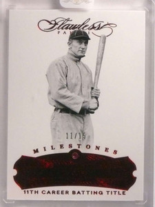 2017 Panini Flawless Milestones Ruby Red Ty Cobb #D11/15 #73 *69998