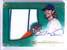 2017 Topps Definitive Jacob Degrom 3 color patch autograph auto #D14/25 *70045