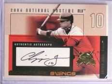 2004 Fleer National Pastime Signature Swings Chipper Jones autograph /116 *70051