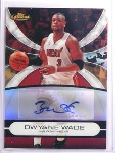 2008-09 Topps Finest Dwyane Wade autograph auto #DW *70057