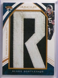 "2016 Panini Immaculate Nameplate Nobility Blake Bortles ""R"" Patch #D3/7 *70065"