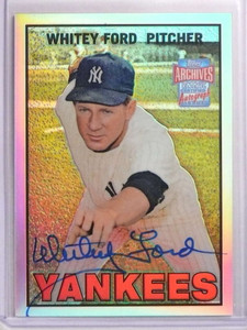 2001 Topps Archives Reserve Whitey Ford autograph auto #ARA2 *70079
