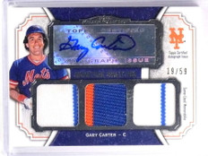 2012 Topps Museum Collection Gary Carter autograph auto patch #D19/59 *70092