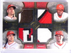 2017 Topps Museum Joey Votto Duvall Phillips Hamilton quad patch #D2/25 *70138