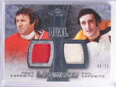 2015 Leaf Ultimate Dual Tony Phil Esposito jersey #D08/20 #UD-17 *70167