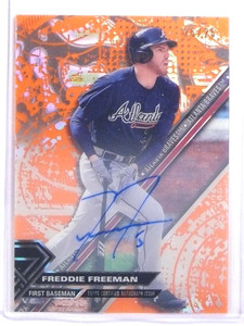 2017 Topps High Tek Orange Freddie Freeman autograph auto #D25/25 *70178