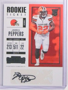 2017 Panini Contenders Jabrill Peppers autograph auto rc rookie #125 *70182