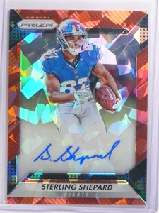 2016 Panini Prizm Red Crystals Sterling Shepard autograph auto rc #D49/75 *70195