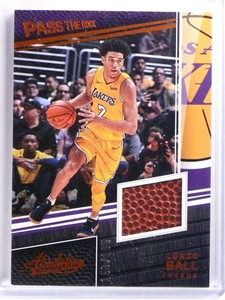 2017-18 Panini Absolute Pass The Rock Lonzo Ball rookie basketball #D/165 *70200