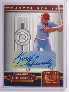 2005 Donruss Signature Series Gold Keith Hernandez Autograph #D37/50 #131 *70226