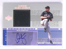 2001 Upper Deck Game Jersey Autograph Mike Hampton Jersey #HMH *70331