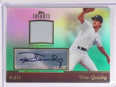 2011 Topps Tribute Green Ron Guidry Jersey Autograph #D45/75 #TARRG *70337