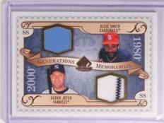 2009 SP Legendary Cuts Generations Ozzie Smith Derek Jeter Jersey #GMSJ *70232