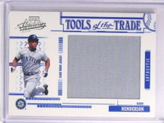 2005 Absolute Tools of Trade Rickey Henderson Jumbo Jersey #D058/100 *70296
