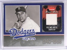 2006 Fleer Greats of the Game Dodger Pee Wee Reese Jersey #LADPR *70370