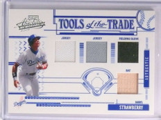 2005 Absolute Tools of the Trade Darryl Strawberry Glove Bat Jersey #D56/75 *70371