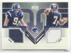 2002 Upper Deck Honor Roll Connetcions Drew Brees & Doug Flutie jersey *43147