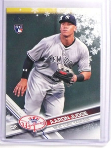 2017 Topps Holiday Snowflake Aaron Judge Rookie RC #HMW99 *70297