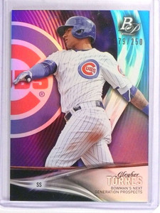 2016 Bowman Platinum Next Purple Gleyber Torres Rookie #D179/250 *70887