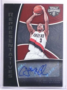 2016-17 Totally Certified Representatives C. J. McCollum Autograph #D74/75 *70456