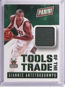 2015 Panini National Tools of the Trade Giannis Antetokounmpo Jersey #14 *70235
