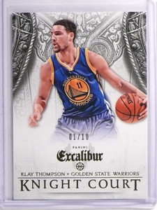 2014-15 Panini Excalibur Knight Court Gold Klay Thompson #D01/10 #4 *70290