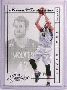 2013-14 Panini Signatures Blue Kevin love #D09/15 #75 *70772