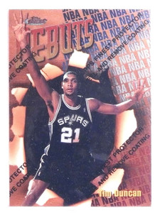1997-98 Topps Finest Tim Duncan Rookie RC #101 *70310