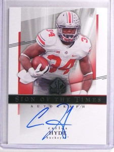 2004 SP Authentic Sign of the Times Carlos Hyde Rookie Autograph #SOTTCH *70824