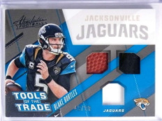2017 Absolute Tools of the Trade Blake Bortles Triple Patch Ball #D46/99 #8 *70429
