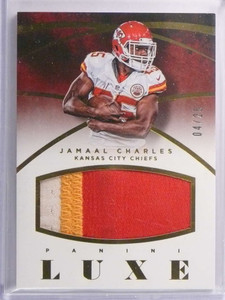 2015 Panini Luxe Jamaal Charles 3 color Patch #D04/25 #LMJC *70488