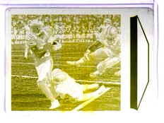2013 Score Printing Plate Yellow Vincent Brown #D1/1 #182 *70381