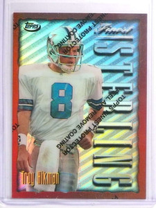 1996 Topps Finest Bronze Common Refractor Troy Aikman #134 *70650