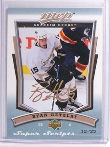 2007-08 Upper Deck MVP Super Scripts Ryan Getzlaf #D12/25 #105 *70759