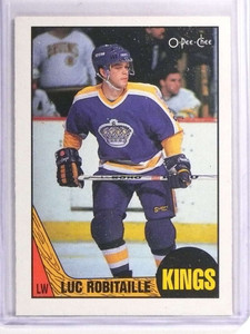 1987-88 O-Pee-Chee Luc Robitaille Rookie RC #42 *70856