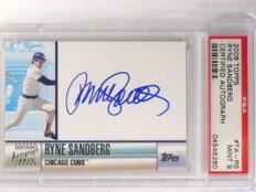 2006 Topps Ryne Sandberg autograph auto #D14/100 TR-RS PSA 9 MINT *70939