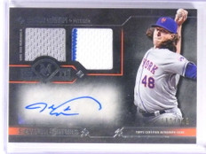 2017 Topps Museum Collection Jacob Degrom autograph auto jersey #D32/199 *71118