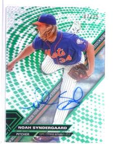 2017 Topps High Tek Green Rainbow Noah Syndergaard autograph auto /75 *71123