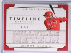2017 National Treasures Timeline Materials Mike Trout jersey #D11/25 #MT *71024