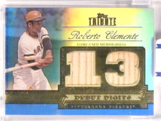 2012 Topps Tribute Blue Debut Digits Roberto Clemente bat #D18/50 #DD-RCL *71041